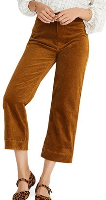 Madewell Slim Emmett Wide Leg Crop Pants: Corduroy Edition