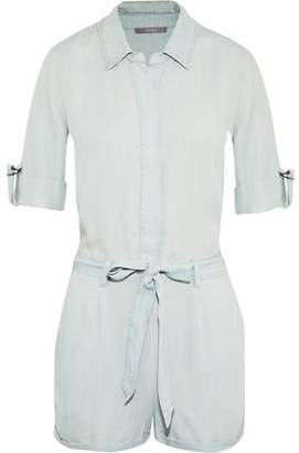 Tart Collections Kaelyn Belted Tencel-Chambray Playsuit