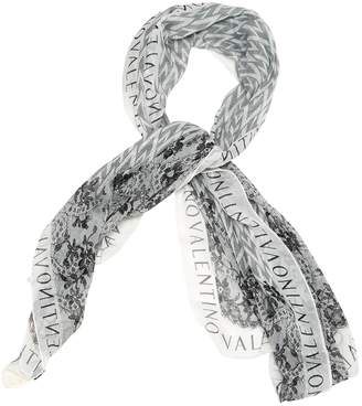 Valentino White Silk Scarves