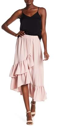 Know One Cares Ruffled Maxi Skirt