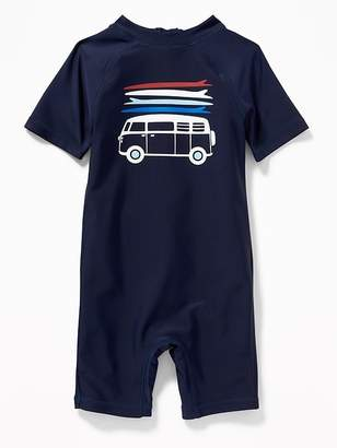 Old Navy Van-Graphic Rashguard One-Piece for Toddler Boys