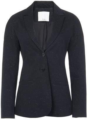 Tibi Luxe Tweed Tie Back Blazer