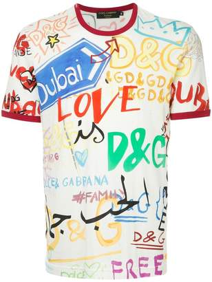 Dolce & Gabbana Dubai graffiti printed T-shirt