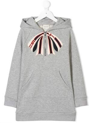 Gucci Kids logo print hoodie dress