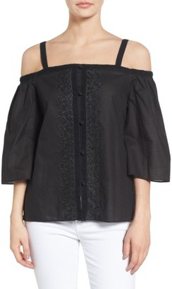 Women's Bailey 44 Rose Water Off The Shoulder Cotton Top $188 thestylecure.com