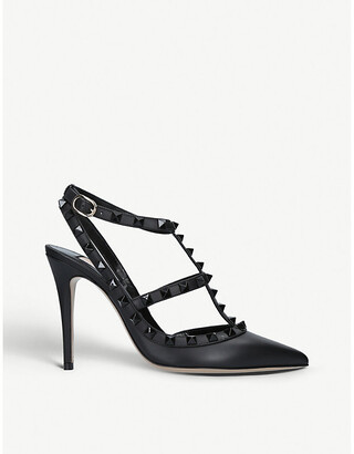 Valentino So Noir 100 studded leather courts