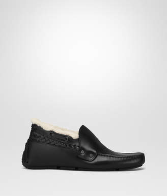 Bottega Veneta NERO CALF WAVE BUCKLE DRIVER