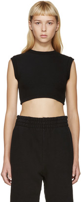 YEEZY Black Cropped Tank Top $285 thestylecure.com