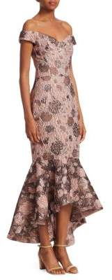 David Meister Floral Off-The-Shoulder Mermaid Gown