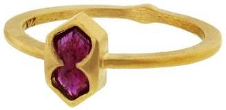 Cathy Waterman 0.55 Carat Natural Ruby Shield Ring
