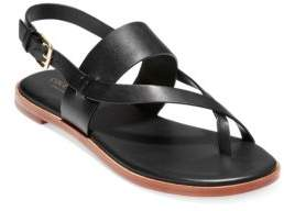 Cole Haan Women's Anica Leather Slingback Sandals - Black - Size 5