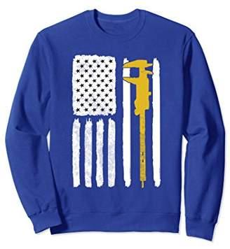 Machinist Sweatshirt Vintage USA Flag