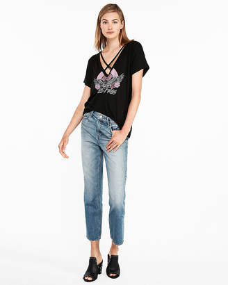 Express Wild Eagle Strappy Graphic Tee