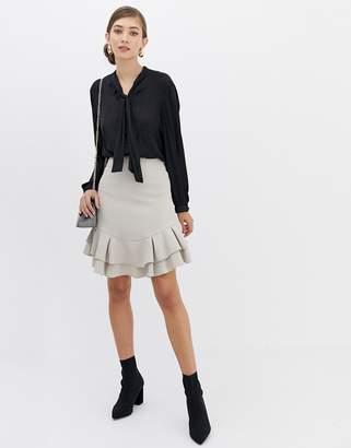 Closet London Closet Frill Hem Skirt