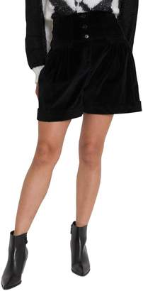 Alberta Ferretti Corduroy Shorts With High Waist