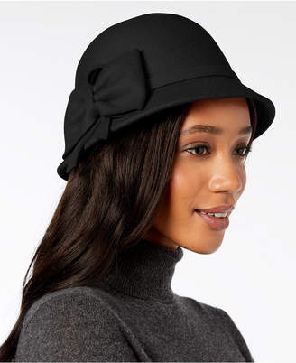 INC International Concepts I.n.c. Bow Wool-Felt Cloche