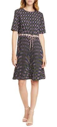 Ted Baker Lloyd II Geo Print Pleated Dress