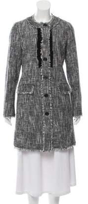 Karl Lagerfeld Tweed Knee-Length Coat
