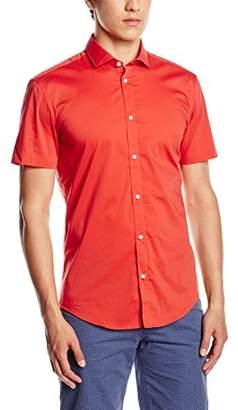 Esprit Men's Stretch Poplin Short Sleeve Slim Fit Dress Shirt,(Manufacturer Size:41-42)