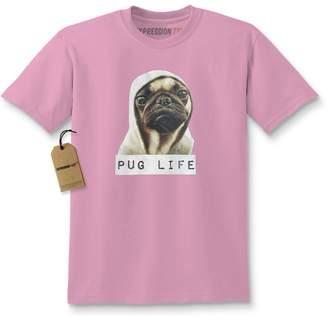 Expression Tees Kids Pug Life Gangsta T-Shirt