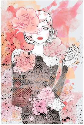 Marmont Hill Inc. Floral Girl Canvas Wall Art