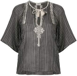Etoile Isabel Marant Joya embroidered tassel top
