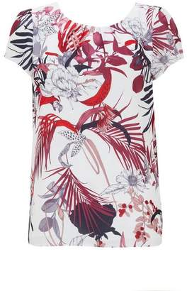 Wallis Berry Floral and Palm Print Top