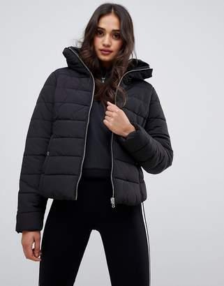 Miss Selfridge padded jacket in black