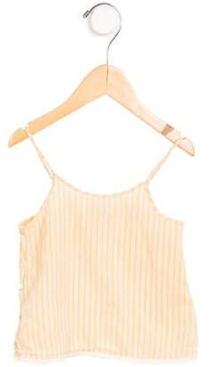Caramel Baby & Child Girls' Eyelet-Trimmed Striped Top
