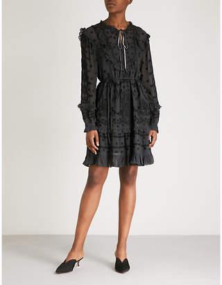 NEEDLE AND THREAD Jazz embroidered chiffon dress
