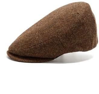 Co Lock and Hatters Lock and Drifter Wool Hat in Brown Herringbone