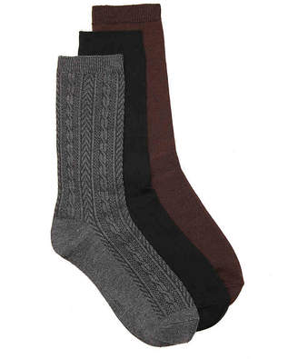 Nine West Cable Crew Sock - 3 Pack - Women's