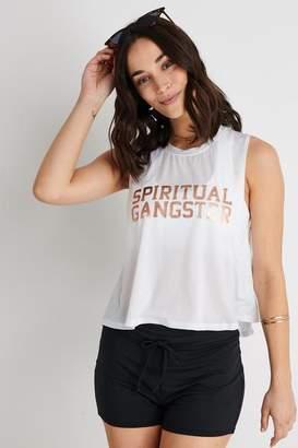 Spiritual Gangster SG Active Crop Tank White - XS