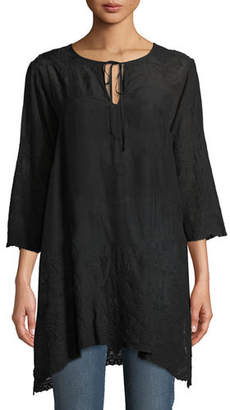 Johnny Was Antique Lace 3/4-Sleeve Tunic