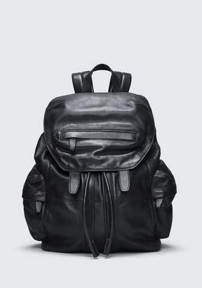 Alexander Wang (アレキサンダー ワン) - Alexander Wang Marti Backpack In Washed Black With Matte Black