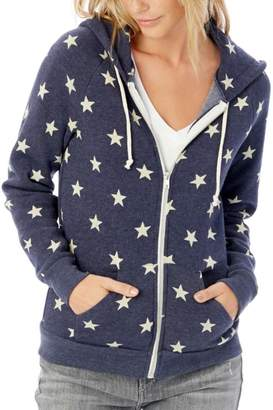 Alternative Apparel Blue Star Hoodie