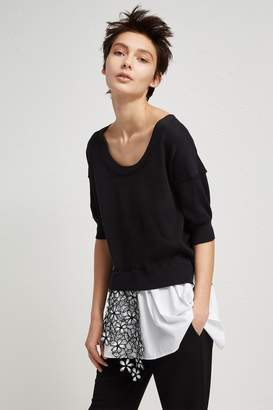 French Connection Fulaga Lace Knit Scoop Neck Jumper