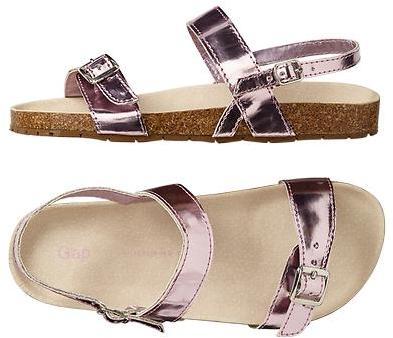 Gap Metallic cork sandals