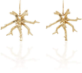Annette Ferdinandsen Coral Stick Cluster 14K Gold Earrings