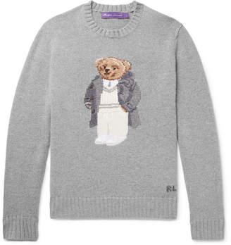 Ralph Lauren Purple Label Bear-Intarsia Cashmere Sweater