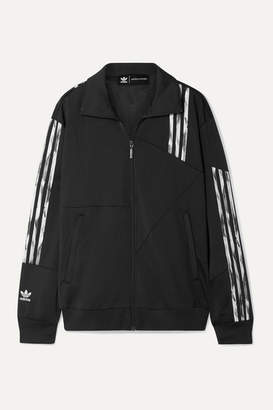 adidas Daniëlle Cathari Firebird Paneled Striped Tech-jersey Track Jacket - Black