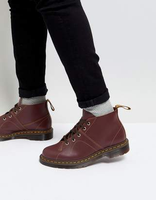 Dr. Martens Church Monkey Lace Up Boots In Oxblood
