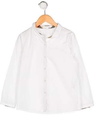 Burberry Girls' Collar Button-Up Top