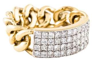 Ring 18K Diamond ID Chain