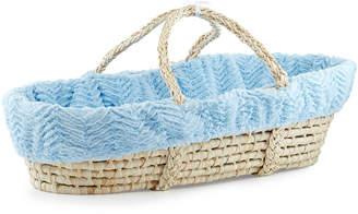 Swankie Blankie Ziggy Moses Basket w/ Bedding, Blue