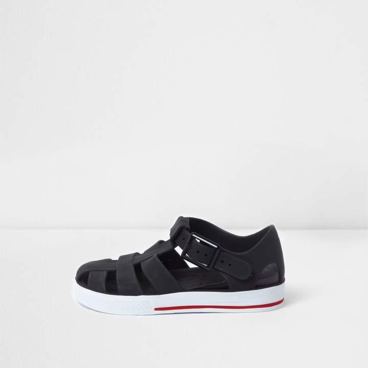 Mini boys Black jelly cage sandals