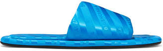 Balenciaga Hotel Logo-jacquard Slides - Blue