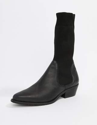 Free People Merritt stretch sock western boot