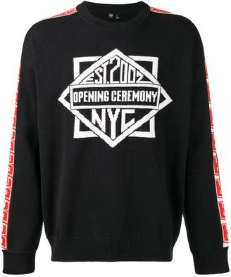 Opening Ceremony logo knit jumper