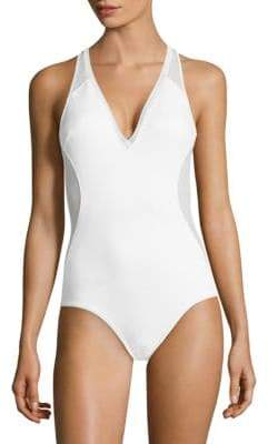 Stella McCartney One-Piece Mesh-Detail Swimsuit